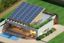 New build solar house in Greece