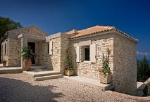 New build stone house in Greece