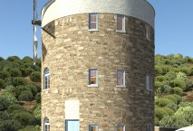 New build windmill in Naxos