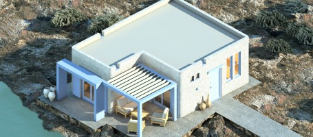 New build retirement houses in Naxos