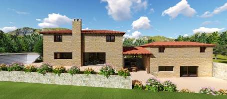 New build stone house Attica125